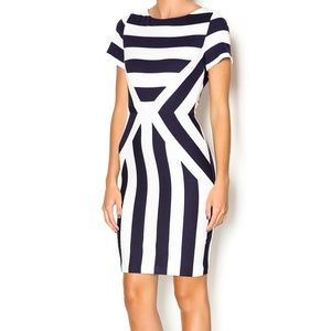 Esley Navy and white striped dress M
